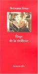 """Couverture du livre : """"Éloge de la vieillesse"""""""