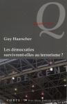 """Couverture du livre : """"Les démocraties survivront-elles au terrorisme ?"""""""