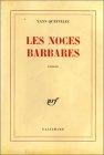 """Couverture du livre : """"Les noces barbares"""""""