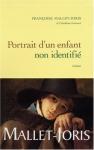"""Couverture du livre : """"Portrait d'un enfant non-identifié"""""""