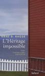 """Couverture du livre : """"L'héritage impossible"""""""