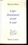 """Couverture du livre : """"Léger étonnement avant le saut"""""""
