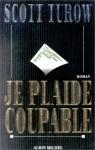"""Couverture du livre : """"Je plaide coupable"""""""