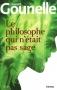 """Couverture du livre : """"Le philosophe qui n'était pas sage"""""""