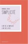 """Couverture du livre : """"L'art de la simplicité"""""""