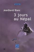 """Couverture du livre : """"Trois jours au Népal"""""""