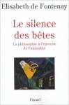 """Couverture du livre : """"Le silence des bêtes"""""""