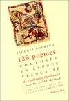 """Couverture du livre : """"Cent vingt-huit poèmes composés en langue française de Guillaume Apolinaire en 1968"""""""