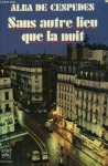"""Couverture du livre : """"Sans autre lieu que la nuit"""""""