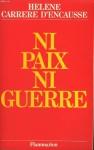 """Couverture du livre : """"Ni paix ni guerre"""""""