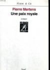 """Couverture du livre : """"Une paix royale"""""""