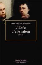 """Couverture du livre : """"L'enfer d'une saison"""""""