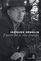 """Couverture du livre : """"J'arrive où je suis étranger"""""""