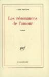 """Couverture du livre : """"Les résonances de l'amour"""""""