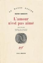 """Couverture du livre : """"L'amour n'est pas aimé"""""""