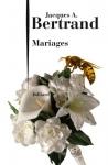 """Couverture du livre : """"Mariages"""""""