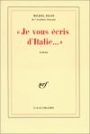 """Couverture du livre : """"Je vous écris d'Italie"""""""
