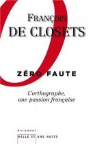 """Couverture du livre : """"Zéro faute"""""""