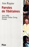 """Couverture du livre : """"Paroles de Tibétaines"""""""