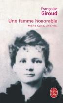 """Couverture du livre : """"Une femme honorable"""""""