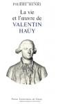 """Couverture du livre : """"La vie et l'oeuvre de Valentin Haüy"""""""