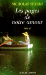 """Couverture du livre : """"Les pages de notre amour"""""""