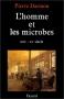 """Couverture du livre : """"L'homme et les microbes"""""""