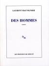 """Couverture du livre : """"Des hommes"""""""