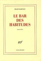 """Couverture du livre : """"Le bar des habitudes"""""""