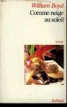 """Couverture du livre : """"Comme neige au soleil"""""""