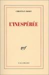 """Couverture du livre : """"L'inespérée"""""""