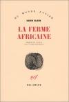 """Couverture du livre : """"La ferme africaine"""""""