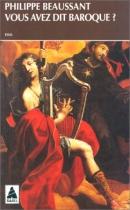 """Couverture du livre : """"Vous avez dit baroque ?"""""""