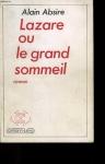 """Couverture du livre : """"Lazare ou le grand sommeil"""""""