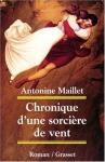 """Couverture du livre : """"Chronique d'une sorcière de vent"""""""
