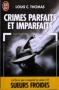 """Couverture du livre : """"Crimes parfaits et imparfaits"""""""