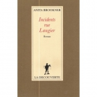 "Couverture du livre : ""Incidents rue Laugier"""