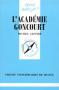 """Couverture du livre : """"L'académie Goncourt"""""""