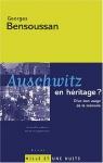 """Couverture du livre : """"Auschwitz en héritage?"""""""