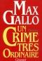 """Couverture du livre : """"Un crime très ordinaire"""""""