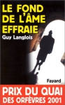 """Couverture du livre : """"Le fond de l'âme effraie"""""""