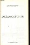 """Couverture du livre : """"Dreamcatcher"""""""
