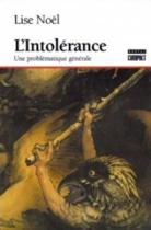 """Couverture du livre : """"L'intolérance"""""""
