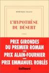 """Couverture du livre : """"L'hypothèse du désert"""""""