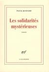 """Couverture du livre : """"Les solidarités mystérieuses"""""""
