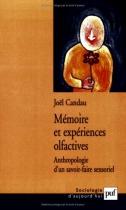 """Couverture du livre : """"Mémoire et expériences olfactives"""""""