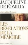 """Couverture du livre : """"Les révélations de la mémoire"""""""