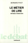 """Couverture du livre : """"Le métier de lire"""""""