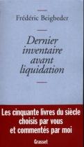 """Couverture du livre : """"Dernier inventaire avant liquidation"""""""