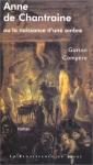 """Couverture du livre : """"Anne de Chantraine ou la naissance d'une ombre"""""""